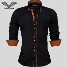 Load image into Gallery viewer, Men Slim Fit Long Sleeve Shirt - zoviana