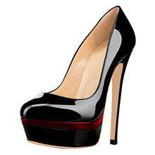 Load image into Gallery viewer, Women High Heels Platform Round Toe Slip-On Pumps - zoviana