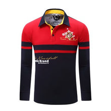 Load image into Gallery viewer, Men Cotton Long Sleeve Polo Shirt - zoviana
