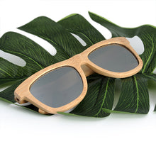 Load image into Gallery viewer, Retro Bamboo Silver Polarized Lens Sunglasses - zoviana