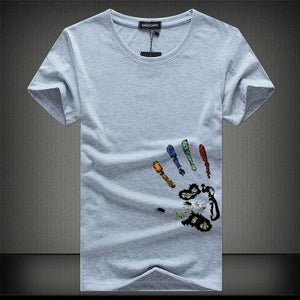 Mens O-Neck Slim Fit Short Sleeve Casual T Shirt - zoviana
