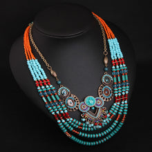 Load image into Gallery viewer, Women's Ethnic Boho Handmade Beaded Crystal Collarbone Necklace - zoviana
