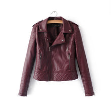 Load image into Gallery viewer, Women Faux Leather Pleated Jacket - zoviana
