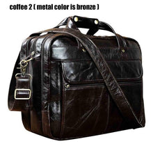 Load image into Gallery viewer, Men Oil Waxy Leather Messenger Bag Tote Bag Shoulder Bag - zoviana
