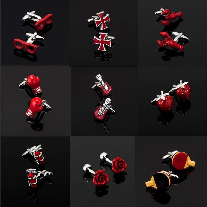 Men's Collection of Red Cufflinks