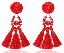 Load image into Gallery viewer, Bohemian Dangle Drop Resin Beads Tassels Earrings - zoviana