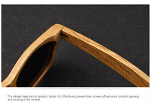 Load image into Gallery viewer, Retro Wooden Handmade Polarized 100% UV Sunglasses - zoviana