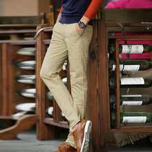 Load image into Gallery viewer, Mens Cotton Long Straight Trousers Pants - zoviana