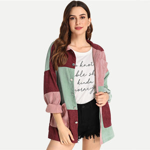 Women Single Breasted Casual Coat Jacket - zoviana