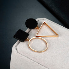 Load image into Gallery viewer, Geometric Stud Round Triangle Design Earrings - zoviana