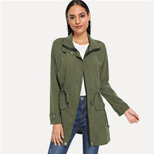 Load image into Gallery viewer, Women's Army Green Coat