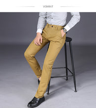 Load image into Gallery viewer, Mens Straight Basic Stretch Pants Trousers - zoviana