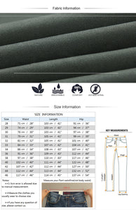 Mens Straight Basic Stretch Pants Trousers - zoviana