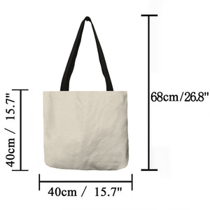 Women Linen Tote Bag Handbag Eco Reusable Bag - zoviana