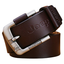 Load image into Gallery viewer, Mens Genuine Leather Alloy Pin Buckle Belt - zoviana