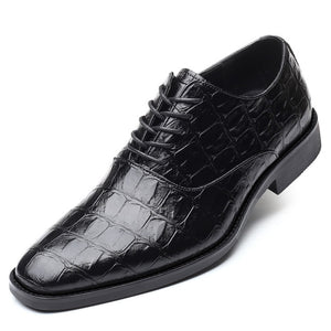 Faux Leather Lace-up Round Toe Brogues - zoviana