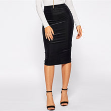 Load image into Gallery viewer, Bodycon Elastic Mid Waist Knee Length Skirt - zoviana