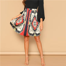 Load image into Gallery viewer, Vintage Mid Waist A Line Mini Pleated Skirt - zoviana
