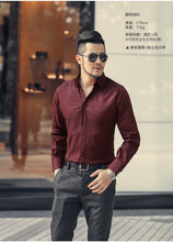 Load image into Gallery viewer, Men Cotton slim Fit Long Sleeve Single Breasted Shirt - zoviana