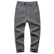 Load image into Gallery viewer, Men Plaid Stretch Wool Trousers Pants - zoviana