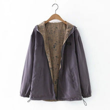 Load image into Gallery viewer, Women Loose Hooded Wide-waisted Jacket - zoviana