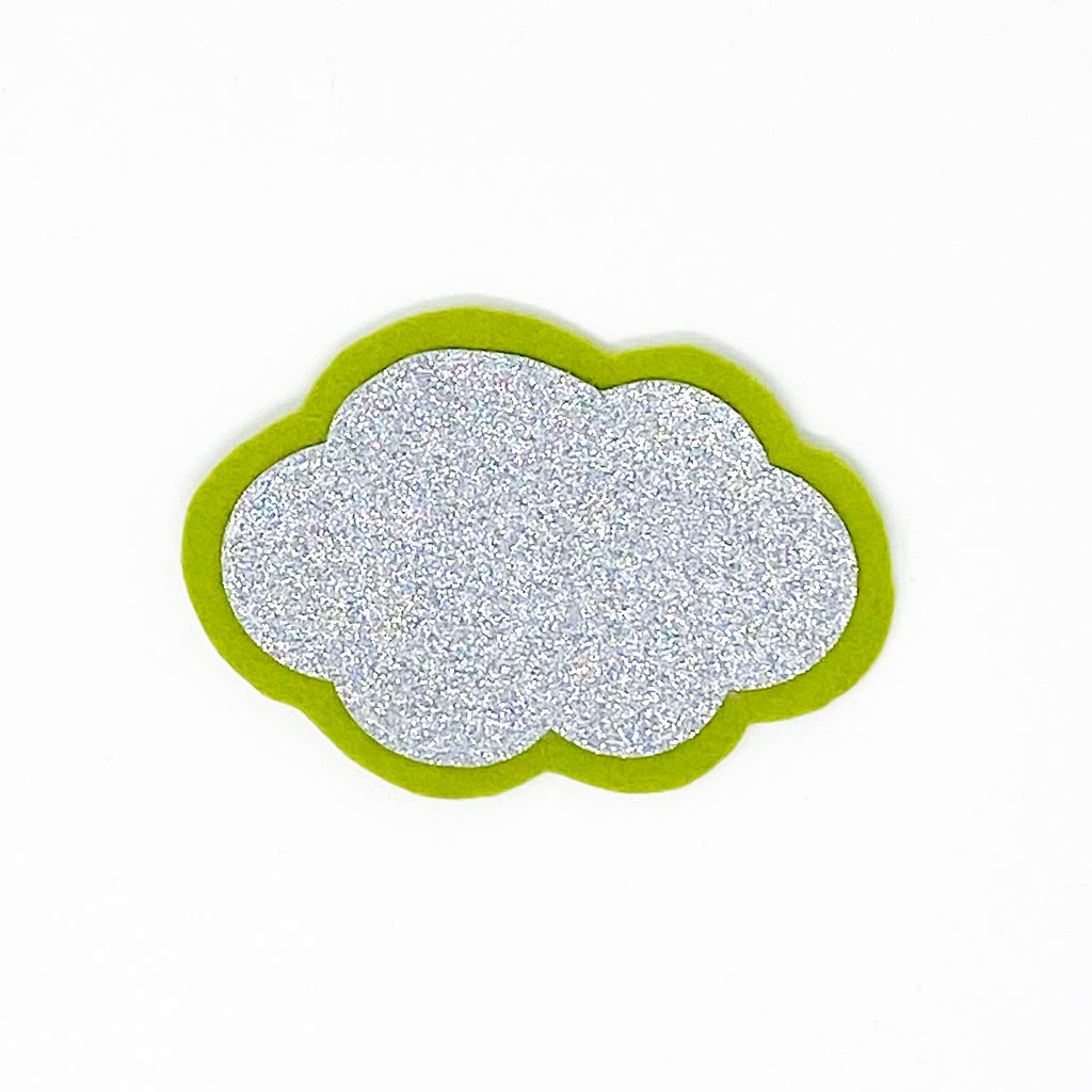 Cloud Patch - Silver Glitter