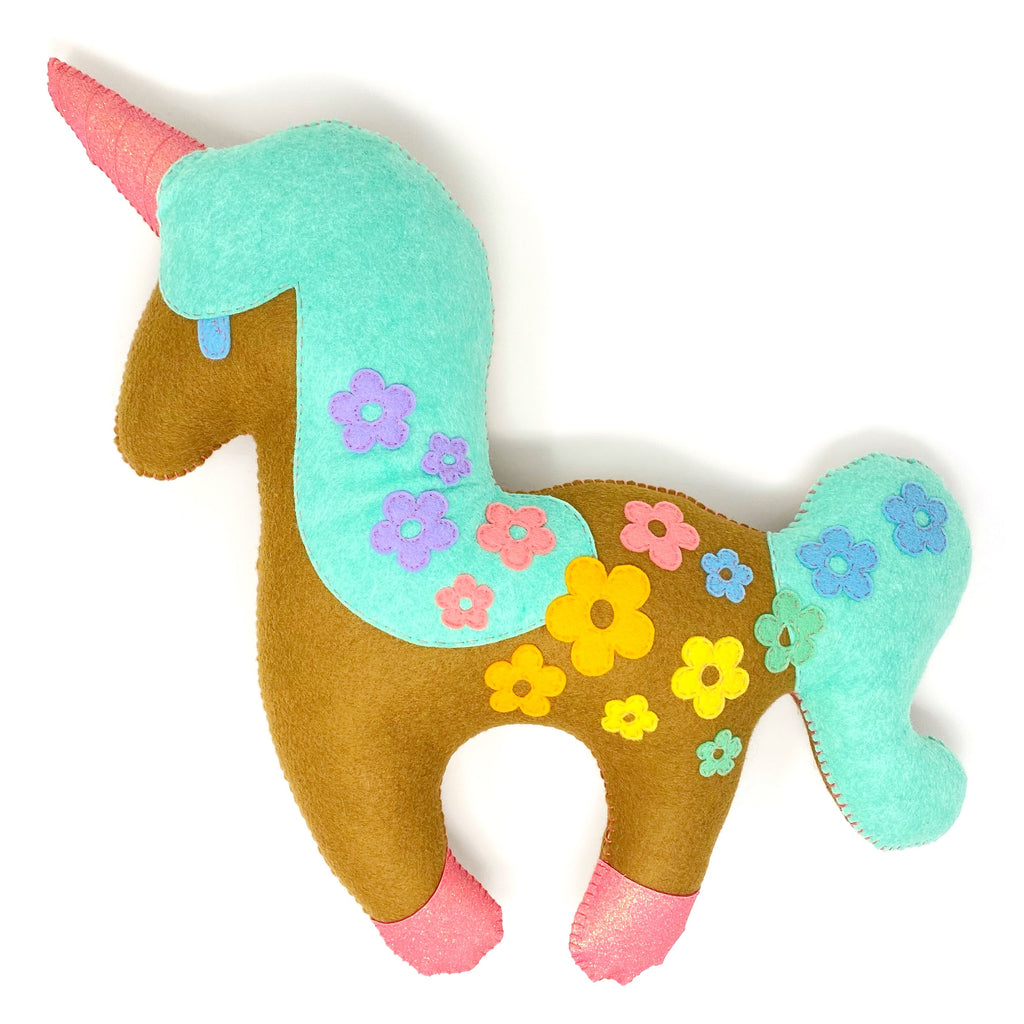 Unicorn - Plush Toy - Rainbow Floral