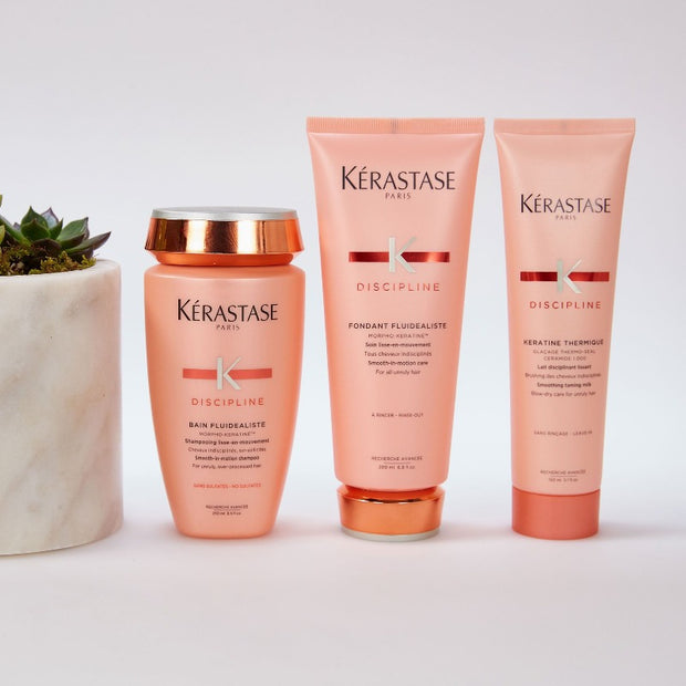 Kerastase Discipline Shampoo, Conditioner, Keratine Thermique