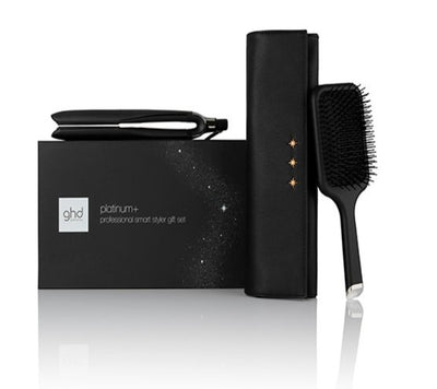 GHD Platinum + Black Styler Gift set