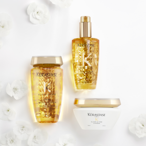Kerastase Elixir Ultime L'Huile Original Hair Oil , shampoo, Mask