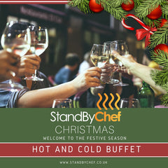 Christmas Buffet catering, hot and cold Christmas Buffet catered in London