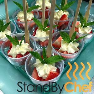 Strawberry and Cream Catering to celebrate Wimbledon season