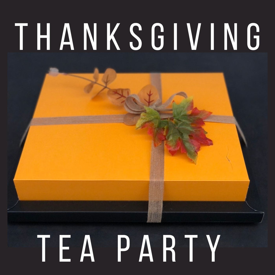 send a thanksgiving gift of afternoon tea delivered in London