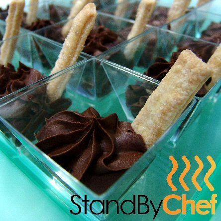 luxury chocolate canape