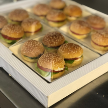 Load image into Gallery viewer, mini sliders canapes catering delivered to you in London