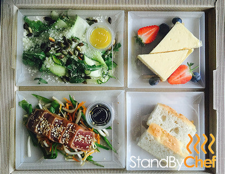 Corporate Office Lunch Catered for with our Lunch box Trays