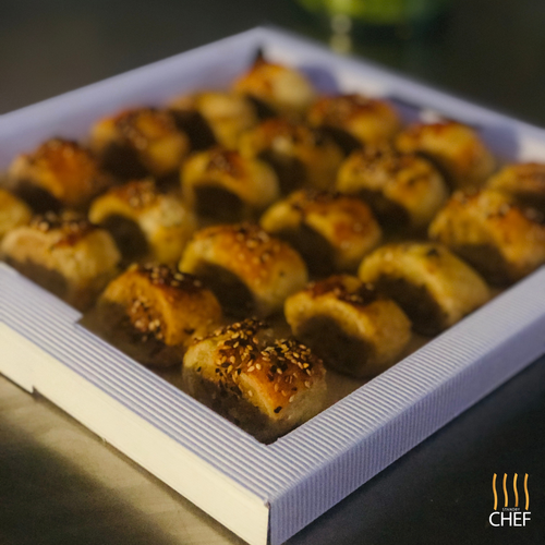 breakfast canapes sausage rolls finger food delivered to your door