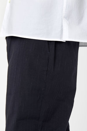 VOLUME TROUSER - Midnight Pinstripe