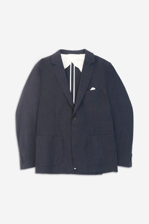 ONE BLAZER JACKET - Midnight Pinstripes