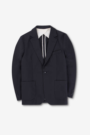 ONE BLAZER BLACK TWILL w PIPING