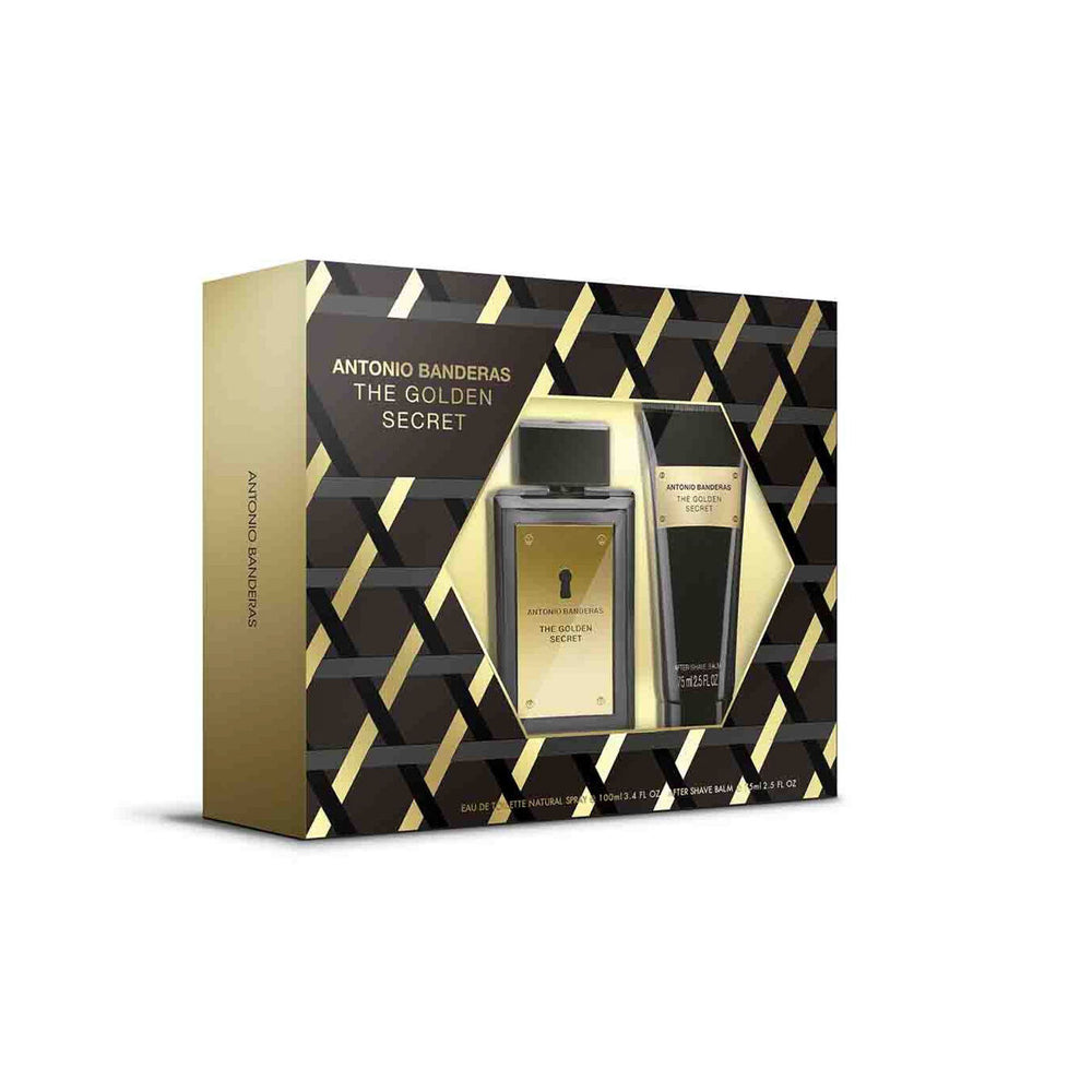 Estuche para Caballero Antonio Banderas The Golden Secret Edt 100Ml + Después Del Afeitado 75Ml