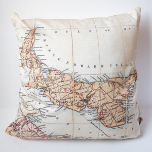 PEI Antique Map Pillow