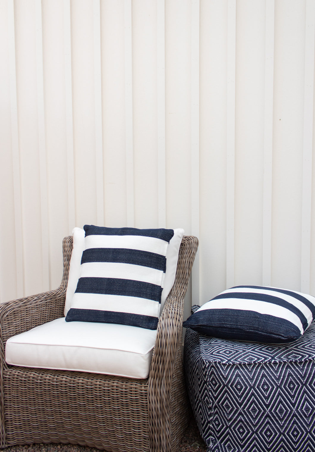 Dash & Albert Catamaran Stripe Indoor/Outdoor Pillow