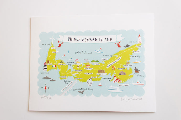 Illustrated Map of PEI Print