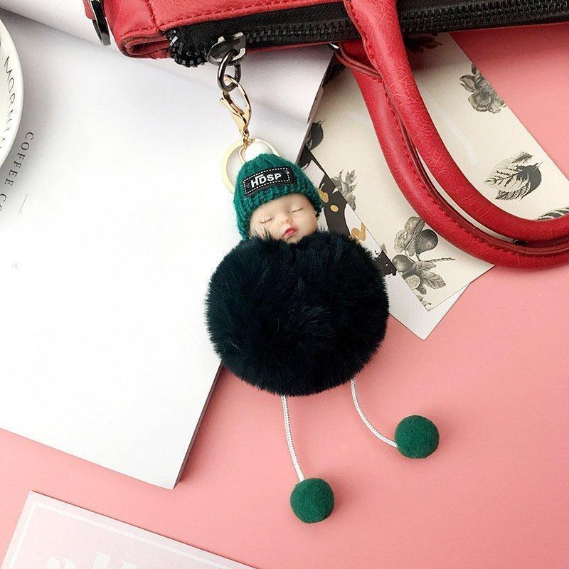 【Promotion Today】-Cute Sleeping Baby Doll Plush Doll Keychain Bag/Car Pendant