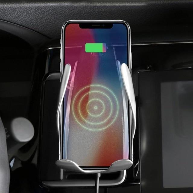 Automatic Car Phone Holder with Qi Wireless Charger  For 4-6.5 inch Phones - ELECOOL