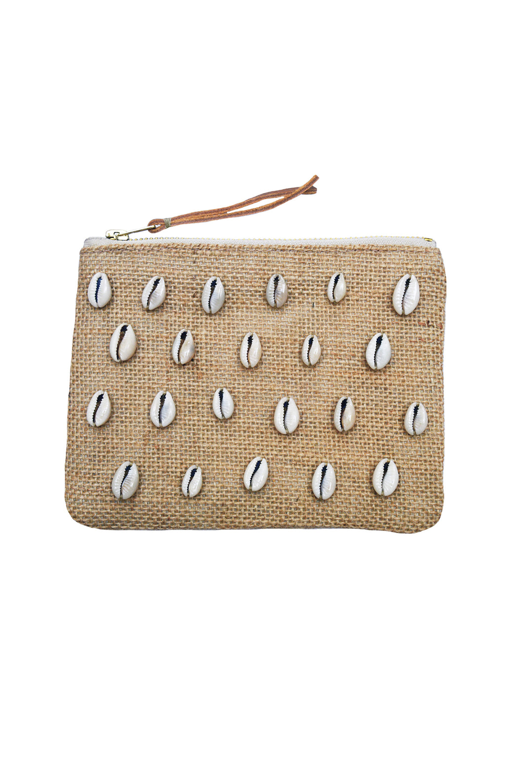 TRAVELLER JUTE COIN PURSE - COWRIE