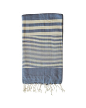 Load image into Gallery viewer, MYKONOS TOWEL + SARONG - NAVY