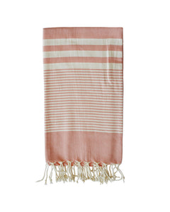 MYKONOS COTTON TOWEL + SARONG - PINK