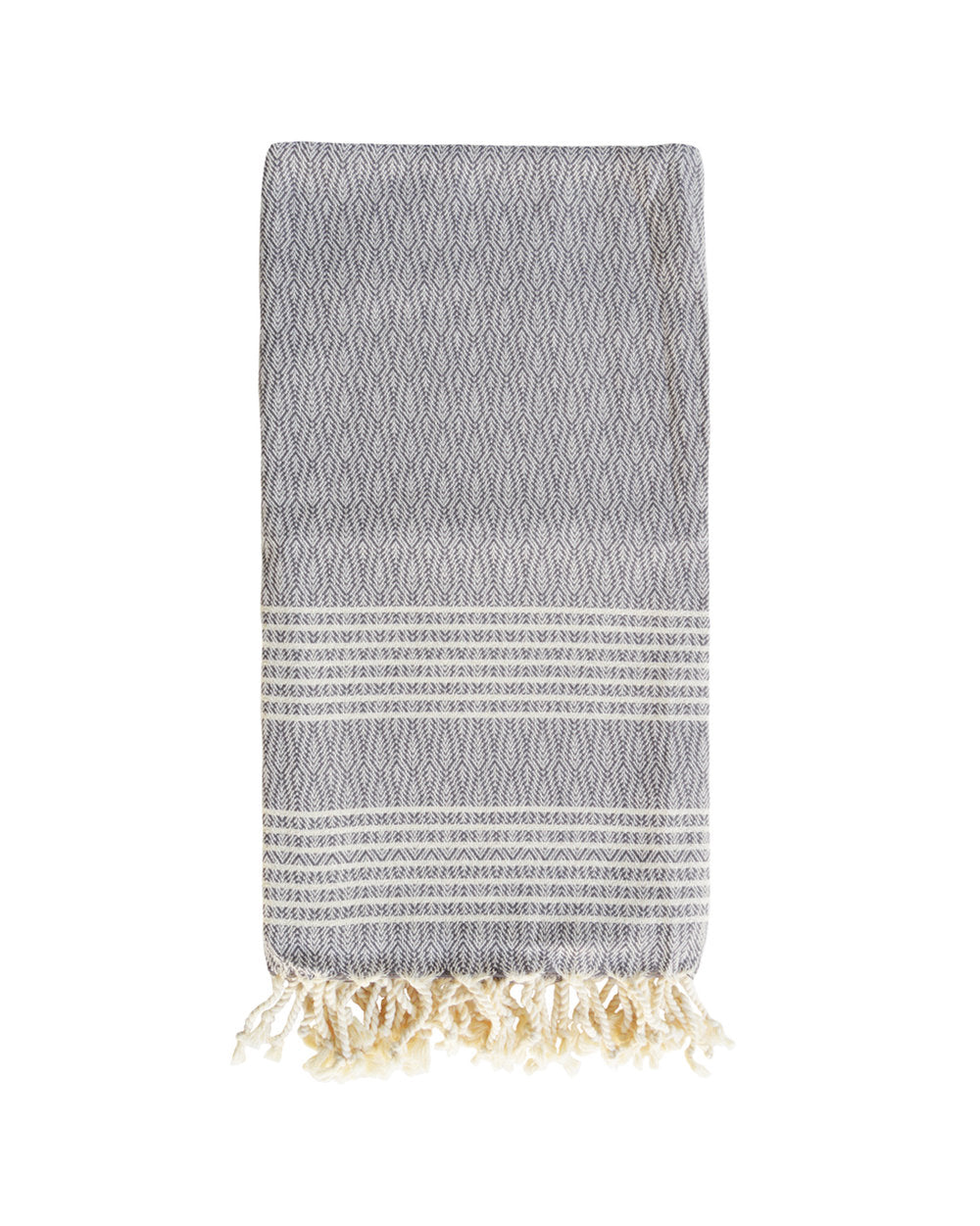 LIVADIA TEXURED TOWEL + THROW - GREY